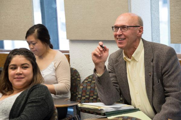 A smiling professor